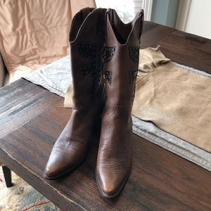 Matisse leather cowboy boot sz 6.5